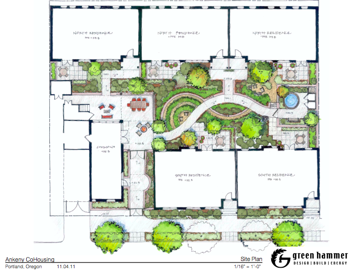 Site Plan in addition Country Plan 1600 Square Feet 3 Bedrooms 2 Bathrooms together with Traditional Plan 2456 Square Feet 4 Bedrooms 3 Bathrooms moreover 70001 furthermore Green On The Greens Sustainable Suburban Living. on craftsman passive solar homes