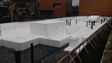 EPS Foam Set in Place! 12/16/13