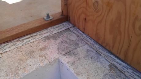 Air Barrier Detailing Extends under the sill plate