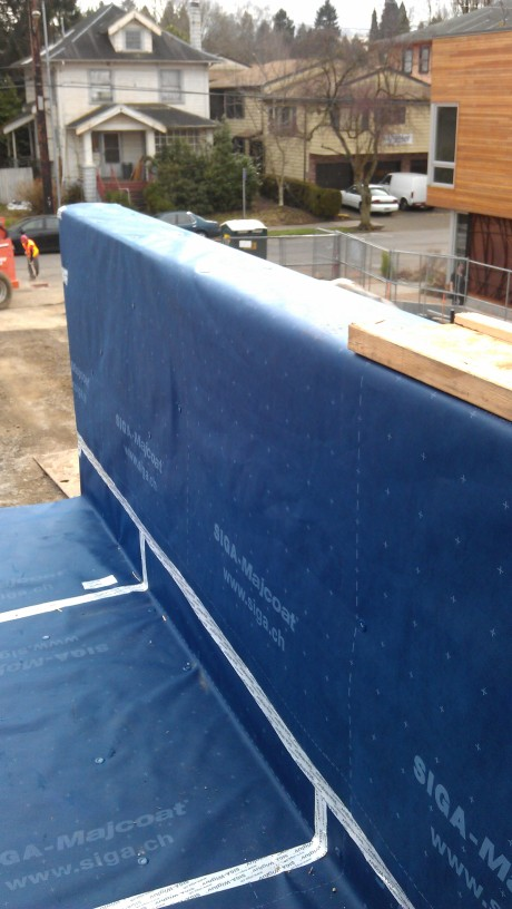 SIGA Majcoat Roof Underlayment Installed